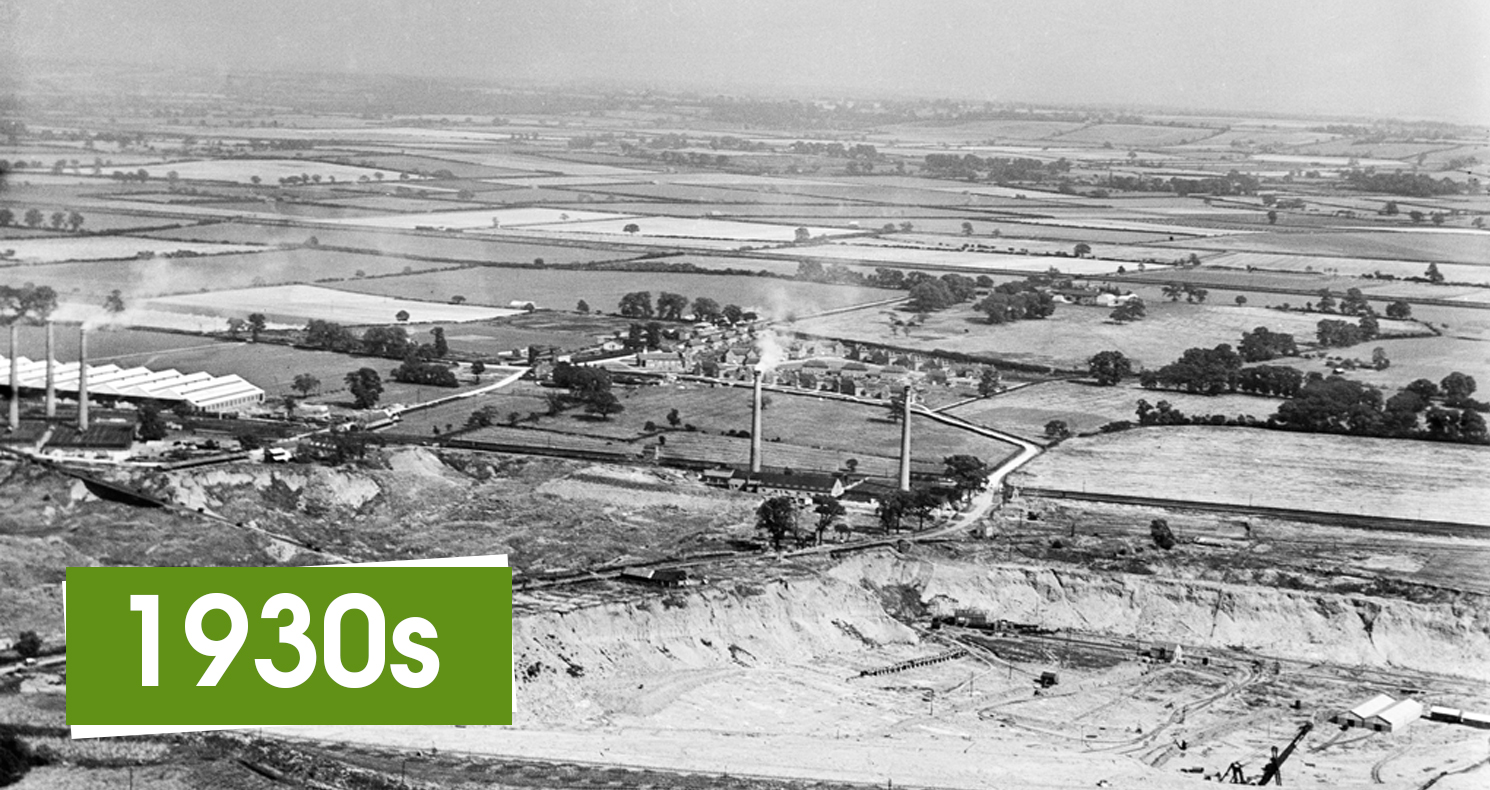 Image of Stewartby Brickworks in the 1930s