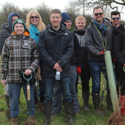 Group from David Locke at a tree planting event