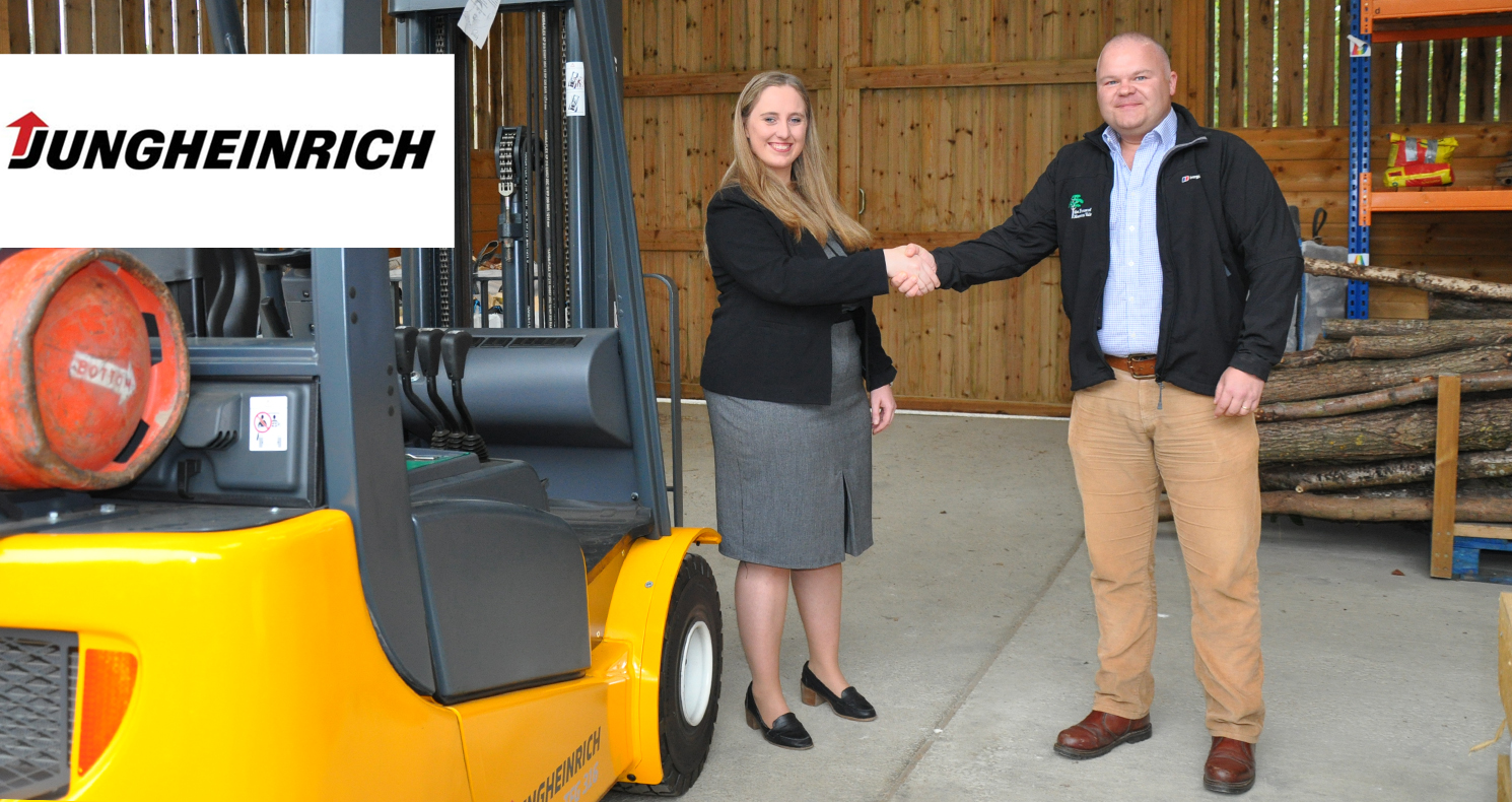 Jungenreich present the Forest with a forklift truck