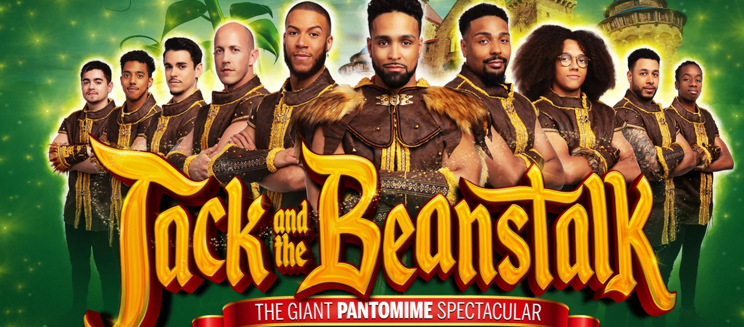 Diversity pose as the cast of Jack and the Beanstalk