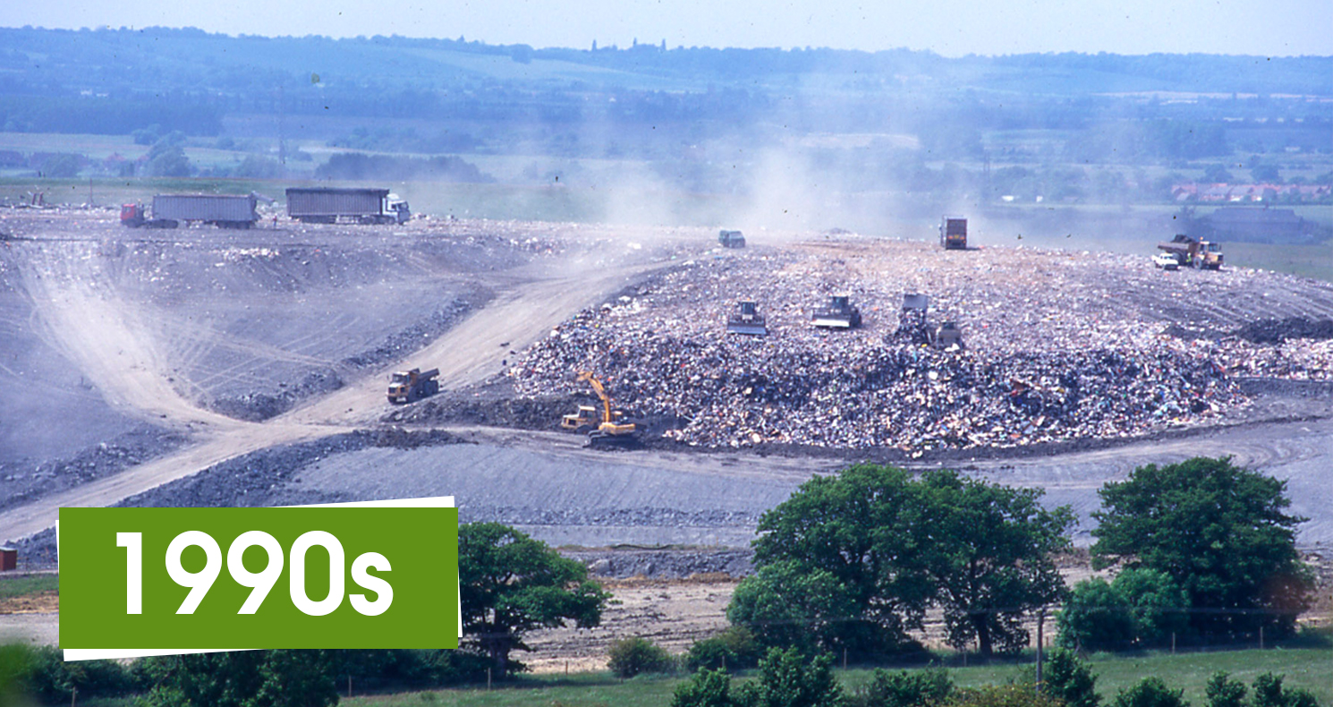 Brogborough landfill site in the 1990s