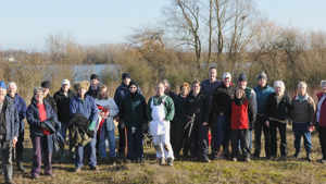 Volunteers at the Millennium Country Park