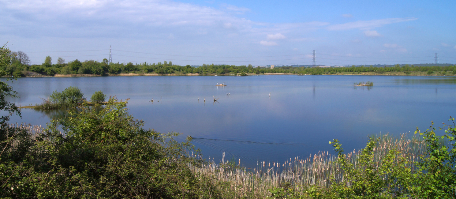 Stewartby Lake, in the Millennium Country Park