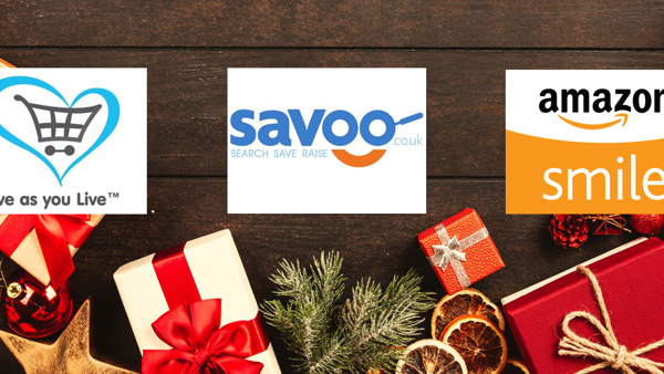 Logos for Give as you live, Savoo and Amazon Smile