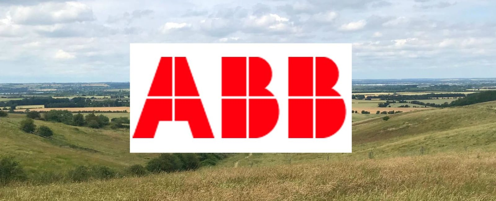 ABB logo over a photo of our site at Houghton Farm