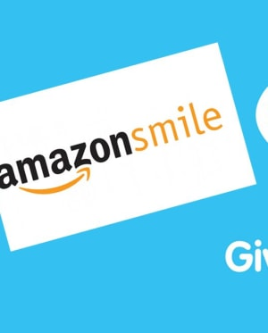 Logos for Amazon Smile, Give as You Live and Savoo