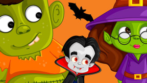 Frank, Wilma the Witch and a vampire