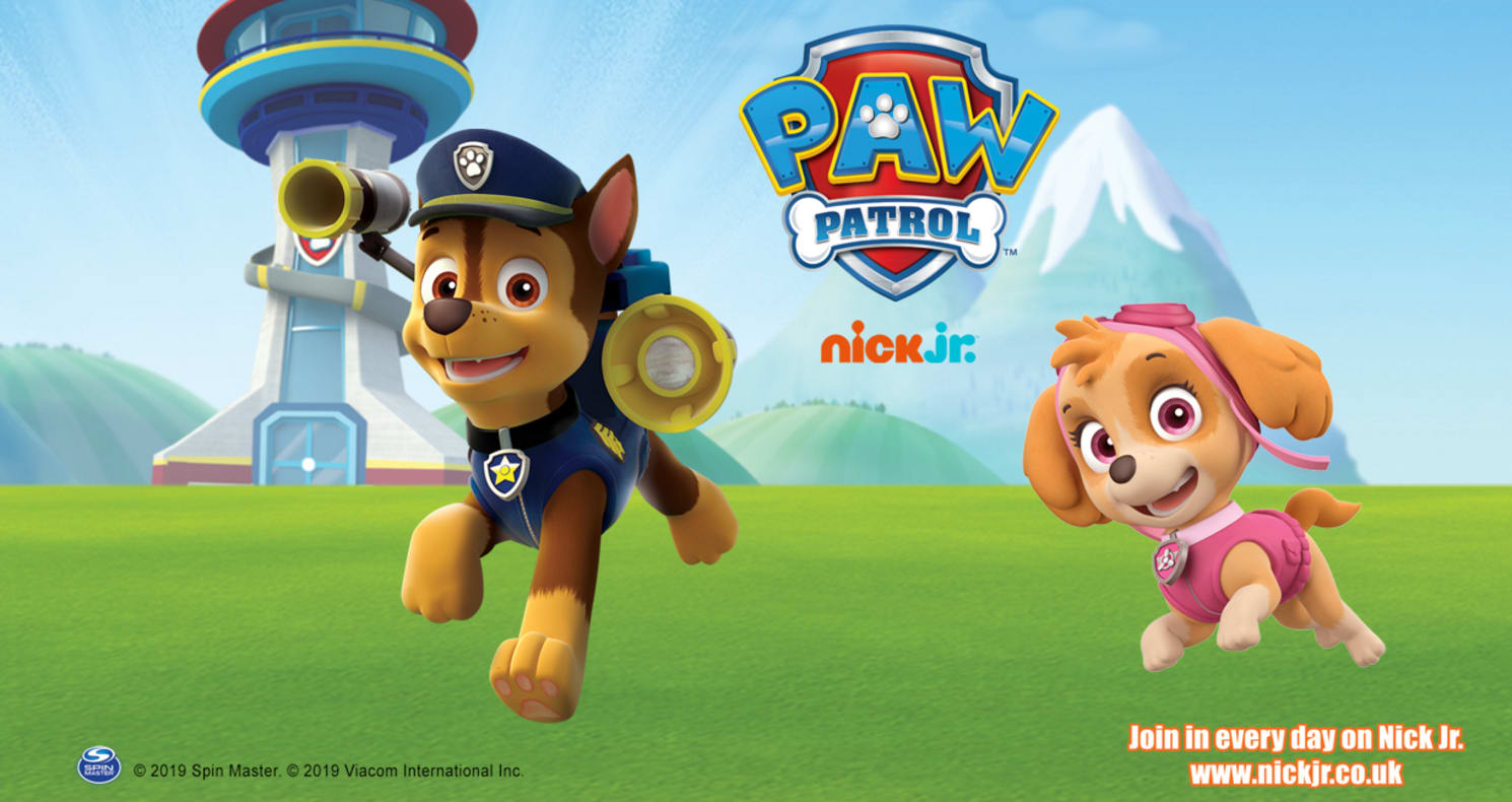 Chase and Skye from PAW Patrol
