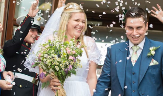 Couple get married at the Forest Centre