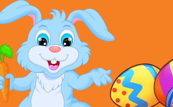 Image of Easter Bunny and eggs